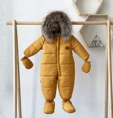 Комбинезон детский зимний Nord Star горчичный