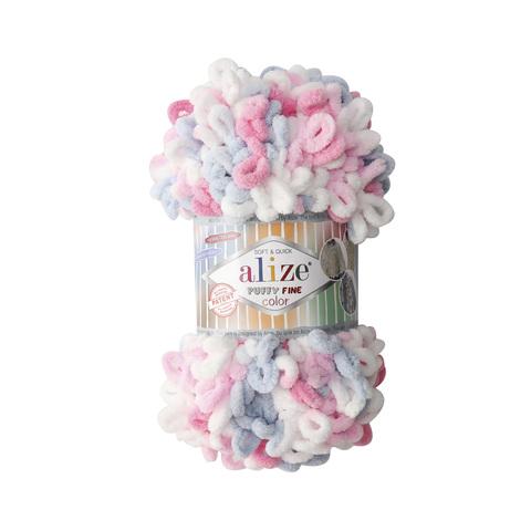 Купить Пряжа Ализе Пуффи Файн Колор Код цвета 5945   Интернет-магазин пряжи «Пряха»