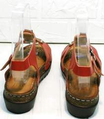 Женские кожаные сандалии на танкетке Rifellini Rovigo 375-1161 Rad.