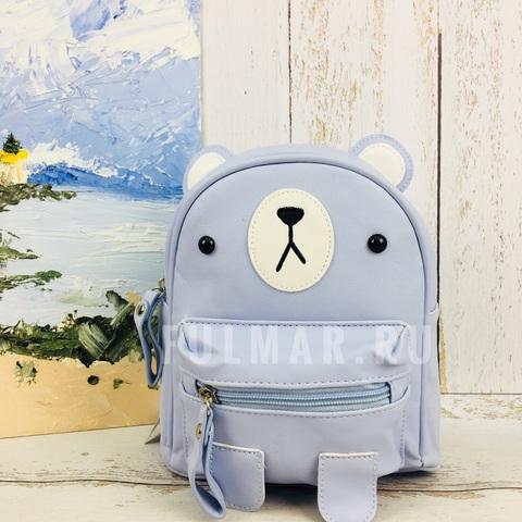 Детский маленький рюкзак для девочки Пёся Голубой