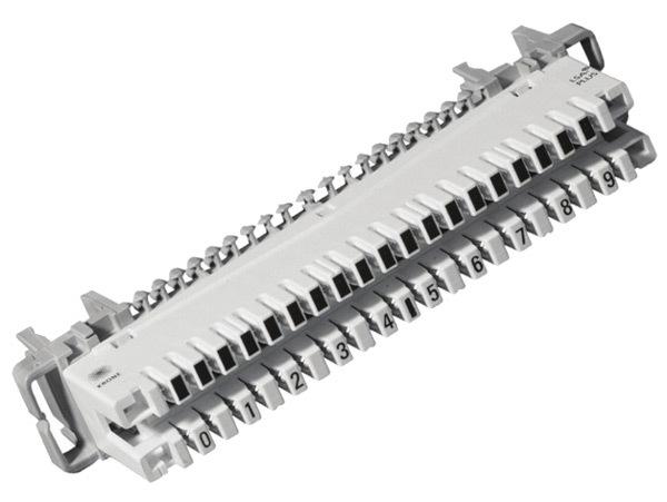 Плинт размыкаемый 10 pin универсальный (хомут+рейка)