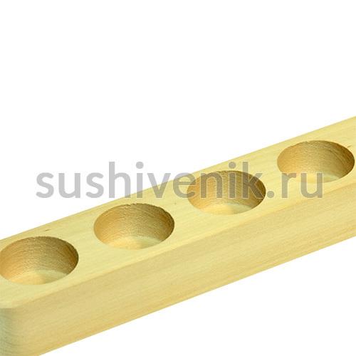 Полочка-подставка для масел (6 отверстий) из липы