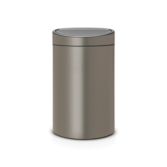 Мусорный бак Touch Bin New (40 л), Платиновый, арт. 114908 - фото 1