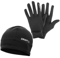 Комплект Шапка и Перчатки Craft Thermal Black