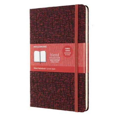 Блокнот Moleskine LIMITED EDITION BLEND LCBD05QP060C Large 130х210мм 192стр. линейка мягкая обложка красный