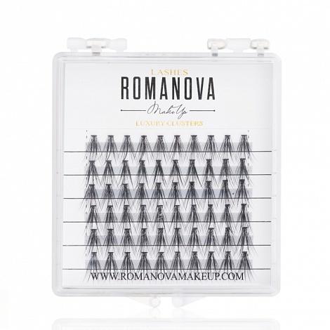 Ресницы пучки Romanovamakeup Medium MINI 60шт
