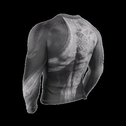купить рашгард мужской maori atua с длинным рукавом для фитнеса единоборств занятий спортом