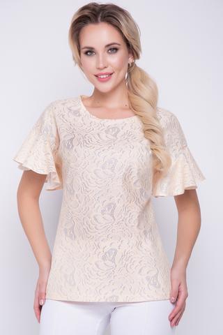 <p>Женственная нежная блуза со спущенным плечом. Рукав - шикарный волан. Ткань - очень шикарная</p>