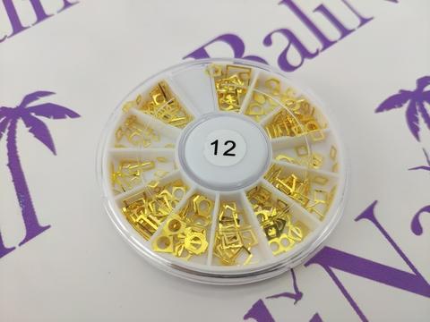 Украшения для ногтей из металла (золото) 12