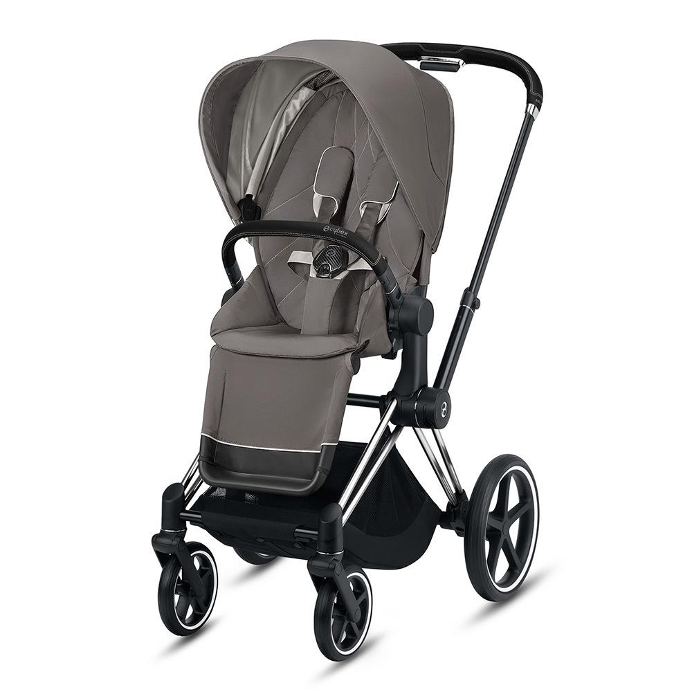 Прогулочная коляска Cybex Priam III 2020 Прогулочная коляска Cybex Priam III Soho Grey Chrome Black cybex-priam-pushchair_soho-grey_chrome-black.jpg