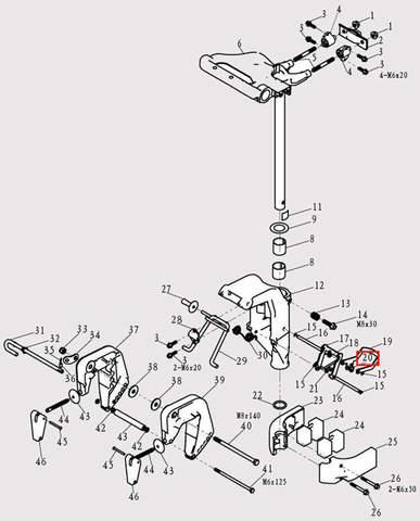Штанга соединительная для лодочного мотора F9.8 Sea-PRO (13-20)