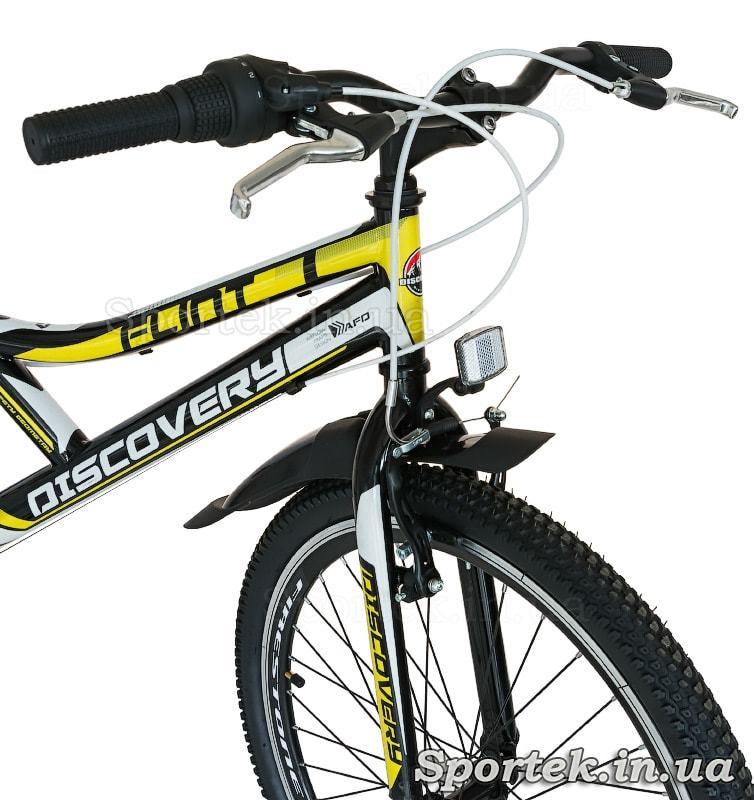 Вилка, руль и переднее колесо подросткового велосипеда Discovery Flint