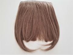 накладная челка из натуральных волос светлого оттенка