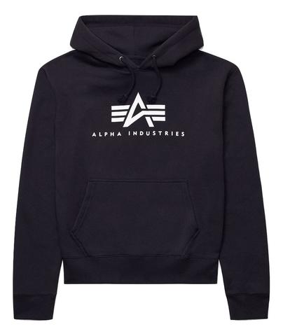 Толстовка Alpha Industries Basic Logo Hoodie Женская (Черная)