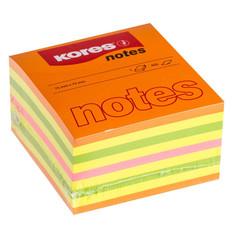 Стикеры Kores бум.для зам. 75х75 неон. гамма 4цв. 450л. 48465
