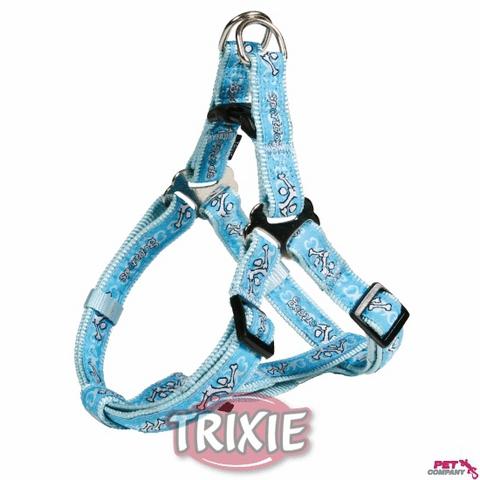 """Trixiе 16037 Шлейка д/собак """"sроrtdog Easy"""" голубая, нейлон 40-50см*15мм"""