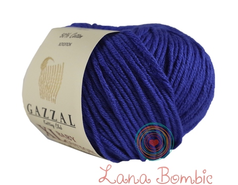 Пряжа Gazzal Baby Cotton XL электрик 3421