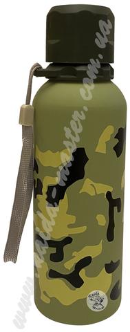 Бутылка спортивная 0,7 л милитари из нержавеющей стали
