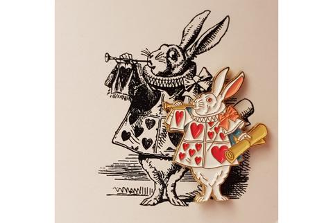 Пин Алиса в стране чудес. Кролик