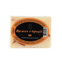 Мыло ручной работы (глицериновое) Апельсин с корицей,100g ТМ Мыловаров