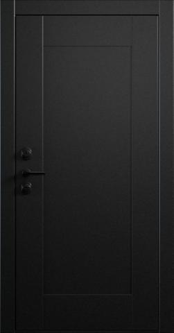 Входная дверь «Quadro 1» в цвете, Эмаль черная