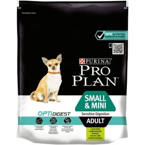 ПРОМО! Pro Plan сухой корм для собак мелких и карликовых пород с чувст. пищ. (ягнененок) 700+100г