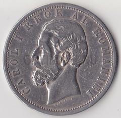 1901, Румыния, 5 лей, Ag, 25 гр.