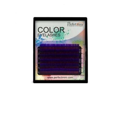 Ресницы EM айлэш мэйкер цветные 6 линий MIX фиолетовый
