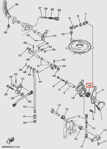 Пружина шкива газа для лодочного мотора Т30 Sea-PRO (13-19)