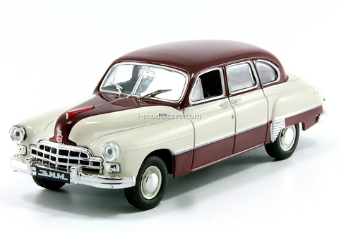 ZIM-12 GAZ-12 beige-darkred 1:43 DeAgostini Auto Legends USSR #206