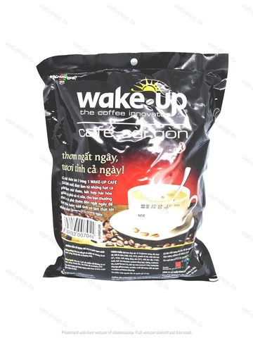 Растворимый кофе Vinacafe Wakeup Saigon, 3 в 1, 456 гр, 24 пак.