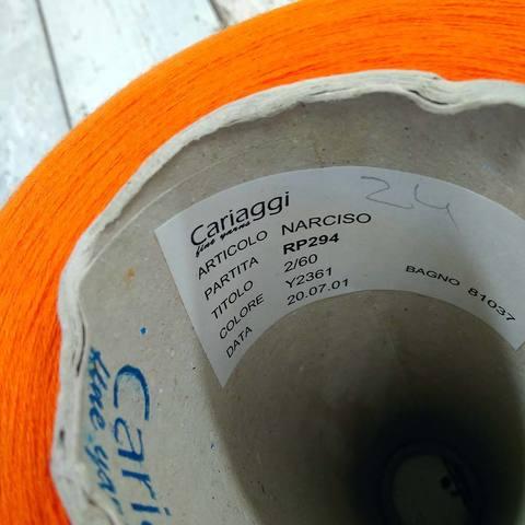 Хлопок с кашемиром (52%) CARIAGGI NARCISO 2/60 оранжевый