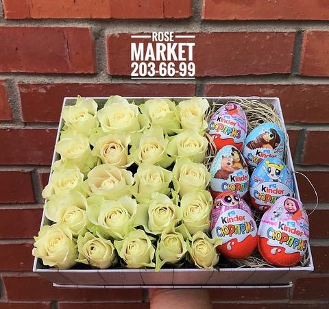 Розы и Kinder сладости #2000