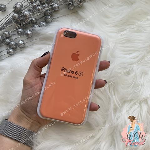 Чехол iPhone 6/6s Silicone Case /peach/ персик  1:1