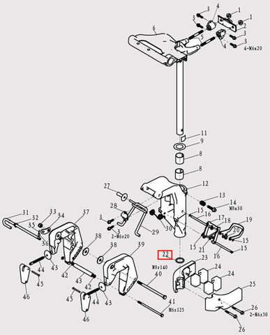 Шайба вала для лодочного мотора F9.8 Sea-PRO (13-22)