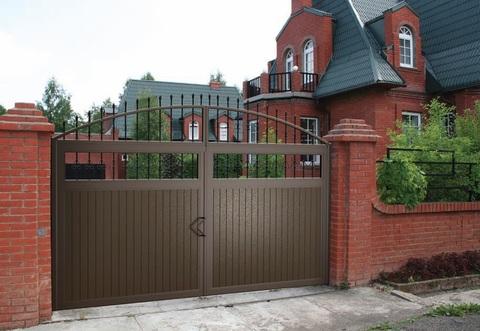 Распашные кованые ворота N-8