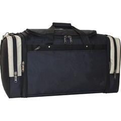 Спортивная сумка Bagland Мюнхен 59 л. Черный/оливка (0032570)