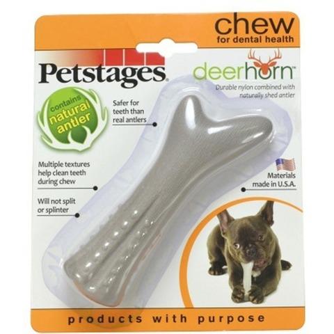 Petstages игрушка для собак Deerhorn, с оленьими рогами 9 см очень маленькая
