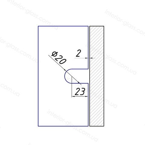 Соединитель (держатель) для стекла HDL-721-1 SSS нерж. сталь литой