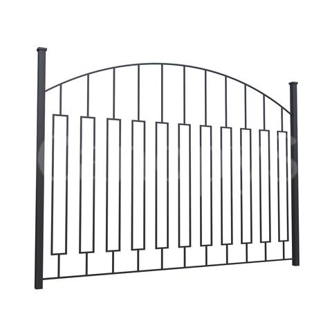 Забор овальный