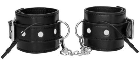 Черные наручники с электростимуляцией Electro Handcuffs