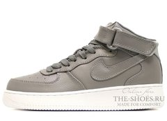Кроссовки Женские Nike Air Force 1 Mid Leather Grey