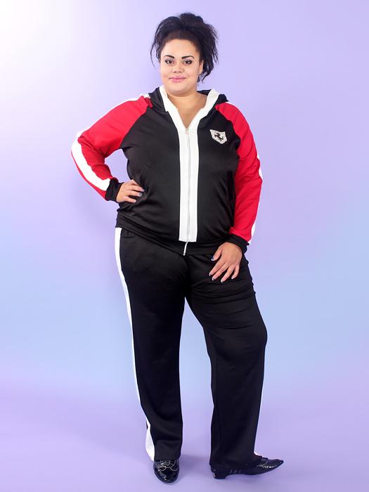 спортивный модный костюм большого размера москва