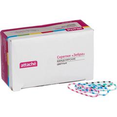 Скрепки Attache Зебра цветные полимерные 28 мм (100 шт в упаковке)