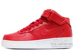 Кроссовки Женские Nike Air Force 1 Mid Leather Red