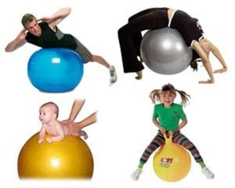 Купити м'ячі (кулі) для фітнесу, післатеса, аеробіки