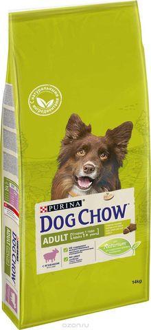 Dog Chow Adult для взрослых собак всех пород с ягненком и рисом