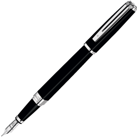 Waterman Exception - Black ST Slim, перьевая ручка, F