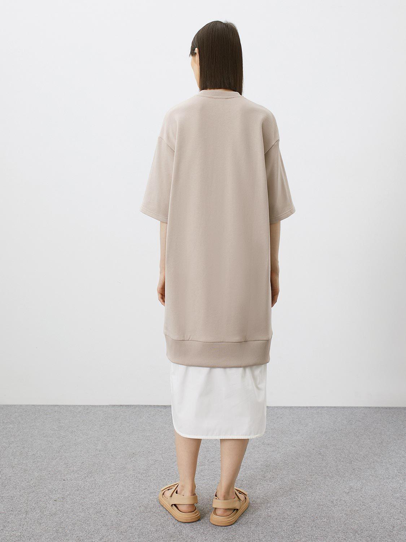 Платье Nala с имитацией рубашки внизу, Светло-бежевый