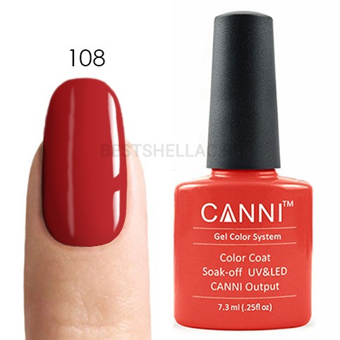 Canni Canni, Гель-лак № 108, 7,3 мл 108.jpg